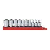 "10 Piece 1/4"" Drive 6 Point SAE Socket Set"