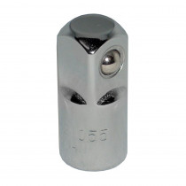 1/4 in. Female to 3/8 in. Male Chrome Socket Adapter, Each