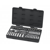 "68-Piece 1/4"" and 3/8"" Drive SAE/Metric Super Socket Set"