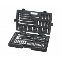 "118 Piece 1/4"", 3/8"", and 1/2"" Drive SAE/Metric Super Socket Set"