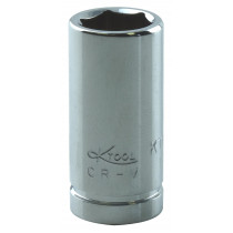 "3/8"" x 1/4"" Drive 6-Point Fractional Chrome Socket (EA)"