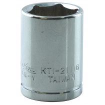 "1/2"" x 1/4"" Drive 6-Point Fractional Chrome Socket (EA)"