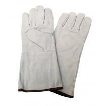 """14"""" Welders Gloves with Thumb Strap, Russet - Large"""