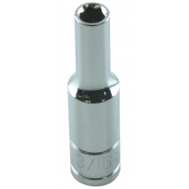 3/16 in. x 1/4 in. Drive 6-Point Fractional Deep Chrome Socket, Each