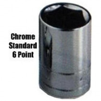 7/32 in. x 1/4 in. Drive 6-Point Fractional Deep Chrome Socket, Each
