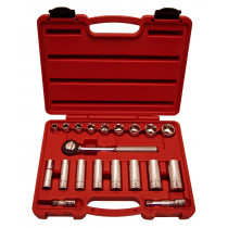 20-Piece 3/8 in. Drive 6-Point Fractional SAE Socket Set