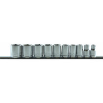 10-Piece 3/8 in. Drive 6-Point Fractional SAE Standard Socket Set