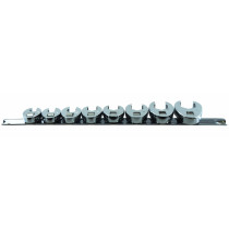 """8-pc 3/8"""" Drive Fractional SAE Crowfoot Flare Nut Wrench Set"""
