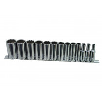 13-Piece 3/8 in. Drive 12-Point Deep Fractional SAE Socket Set