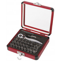 38 Piece Mini Ratchet and Bit Set