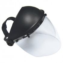 SAS Safety® Impact-Resistant Deluxe Clear Faceshield with Adjustable Headpiece