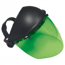 SAS Safety® Impact-Resistant Deluxe Green Face Shield