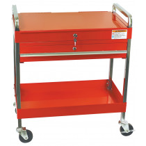 Sunex® Tools Service Cart w/ Locking Top and-Drawer, Red
