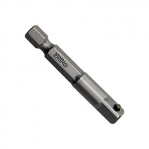 Socket Adapter, 1/4 in. Hex Shank, 1/4 in. Square Drive with Pin Lock, 2 in. Long (Bulk)