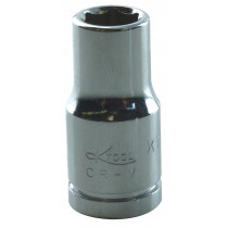 Socket Adapter, 1/4 in. Hex Shank, 1/4 in. Square Drive with Ball Lock, 3 in. Long (Bulk)