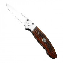 Sarge® 4-5/8 in. Folding Knife w/ Pistol Grip Textured Pakkawood Handle