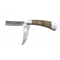 Sarge® 3-1/2 in. Two-Blade Folding Knife w/ Burl Wood Handle