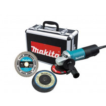 Makita® 4-1/2 in. Paddle Switch Cut-Off/Angle Grinder w/ Diamond Blade and (4) Grinding Wheels