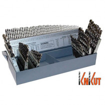 KnKut 115 Piece Jobber Length Drill Bit Set Numbers, Letters, Fractions