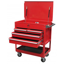 Sunex® Tools 4-Drawer Professional Cart, Red