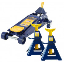 3 Ton Jack and Jack Stand (Pair) Combination