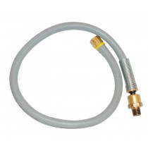 Ball Swivel Lead-In Hose Assembly 1/4 in. x 24 in. and 1/4 in. NPT