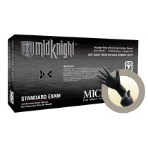 Microflex MidKnight MK-296 Nitrile Gloves - Disposable, Textured, Size XXLarge (Pack of 100)