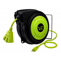 ZillaReel™ 50 ft. Electrical Cord Reel, 14-3AWG with Triple Tap