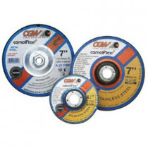 """Depressed Center Grinding Wheel, T27, 9"""" x 1/4"""" x 7/8"""" Arbor, A24N for Metal, 6,600 RPM"""