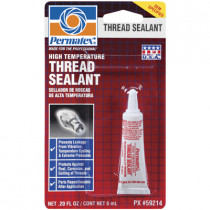 High Temperature Thread Sealant, 6mL Tube Carded