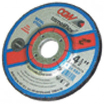 "Depressed Center Grinding Wheel, T27, 4-1/2"" x 1/4"" x 7/8"" Arbor, A24R for Metal, 13,300 RPM"