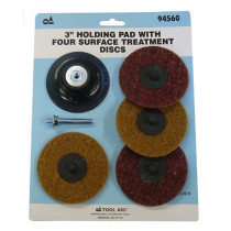 """3"""" Holding Pad with Four Surface Treatment Discs"""