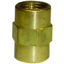 """1/8"""" Pipe Thread Coupling Brass Fitting"""