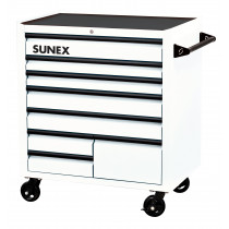 Sunex® Tools Premium 8-Drawer Service Carts (41 in. W x 24 in. D x 42 in. H), White