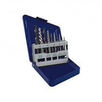 10 Piece Spiral Extractor and Drill Bit Set in Metal Index