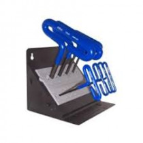 """8 Piece 6"""" Cusion Grip Hex T-Key Set with Stand"""