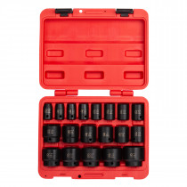 Sunex® Tools 19-Piece 1/2 in. Drive Fractional SAE Fractional Impact Socket Set