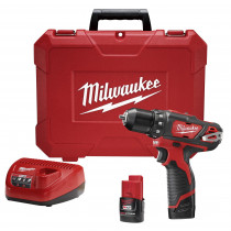Milwaukee® M12™ 3/8 in. Cordless Drill Driver w/ (2) Batteries Kit