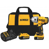 DeWalt® 20V MAX XR High Torque 1/2 in. Impact Wrench with Hog Ring Anvil and (1) XR 5.0 Ah Battery Kit